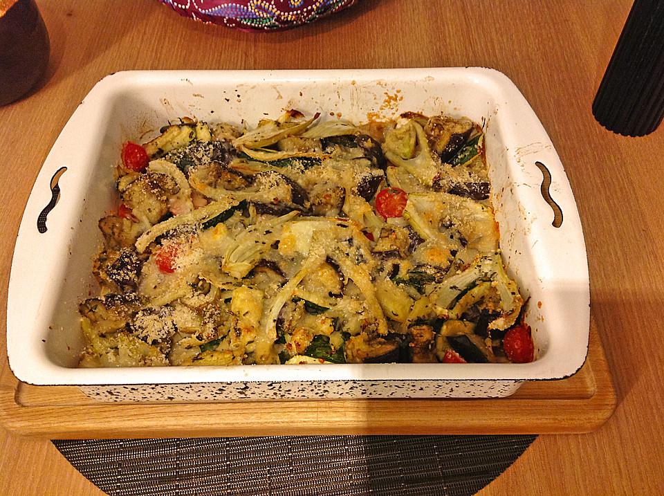 Rezepte mit zucchini aubergine und tomate
