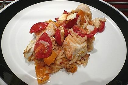 Fischfilet mit Kritharaki und Gemüse 1