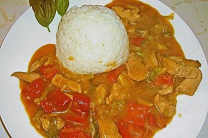 Asia - Hähnchenbrust in pikanter Gemüse - Sauce 10