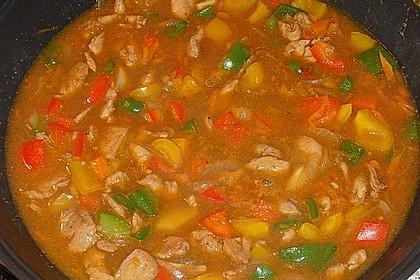 Asia - Hähnchenbrust in pikanter Gemüse - Sauce 9