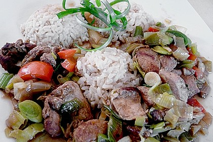 Asia - Hähnchenbrust in pikanter Gemüse - Sauce 8