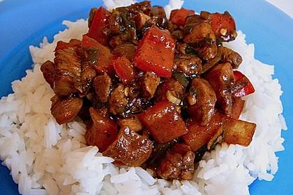 Asia - Hähnchenbrust in pikanter Gemüse - Sauce 4