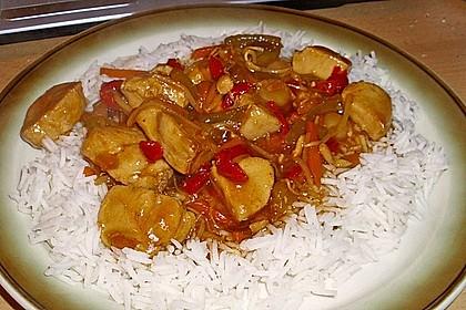 Asia - Hähnchenbrust in pikanter Gemüse - Sauce 11