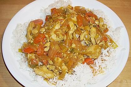 Asia - Hähnchenbrust in pikanter Gemüse - Sauce 6