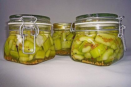 Senfgurken süß - sauer