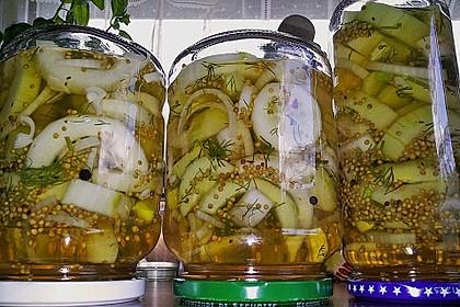 Senfgurken süß - sauer 1