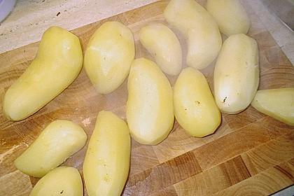 Blutwurst mit Stampfkartoffeln und Birnenkompott 7