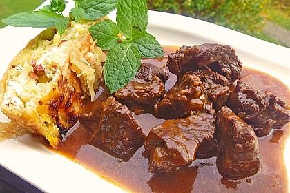 Schoko - Gulasch aus Rindfleisch