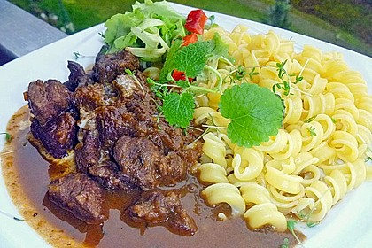 Schoko - Gulasch aus Rindfleisch 2