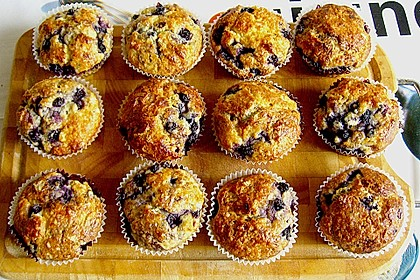 Mile high Blueberry Muffins 15