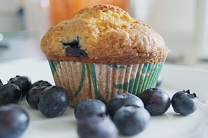 Mile high Blueberry Muffins 5