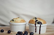 Mile high Blueberry Muffins