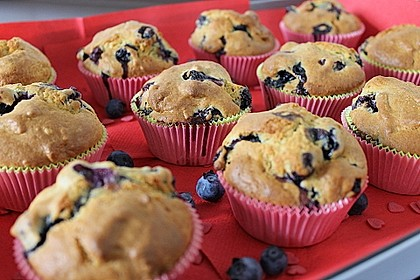 Mile high Blueberry Muffins 11