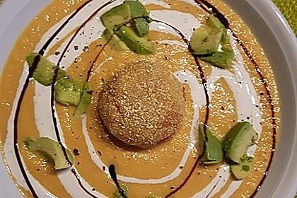 Möhrensüppchen mit Ingwer und Avocado 4