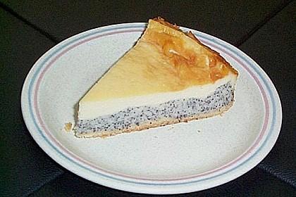Kuchen pudding mohn