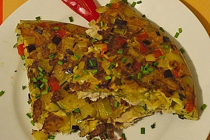 Kartoffel - Omelette mit geräucherter Forelle 1