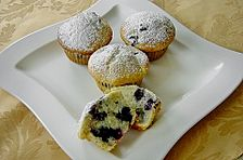 White Chocolate Blueberry Muffins