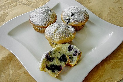 White Chocolate Blueberry Muffins 1