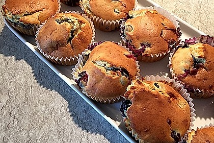 White Chocolate Blueberry Muffins 5