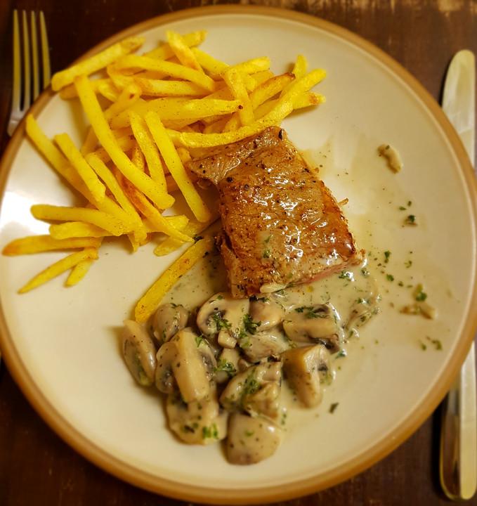 steak pfanne mit frischen pilzen von melody 24
