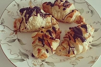 Gefüllte Schoko - Croissants