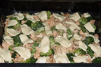 Nudel - Lachs - Brokkoli - Auflauf 13