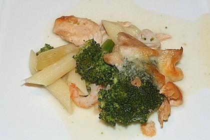 Nudel - Lachs - Brokkoli - Auflauf 6