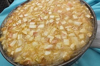 Apfelkuchen mit Sahne - Zimt - Haube 5