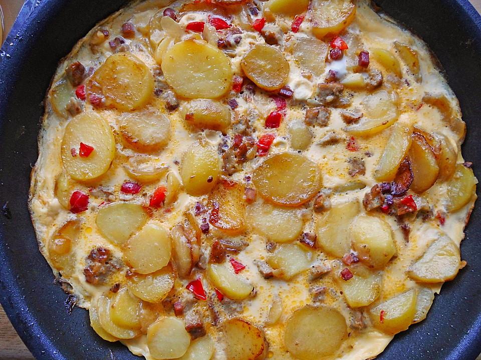 Rezept Für Omelett kartoffel omelett mit paprika sramaravilla chefkoch de
