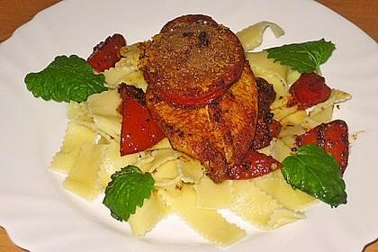 Überbackenes Hühnerbrustfilet mit karamellisierten Tomaten 1