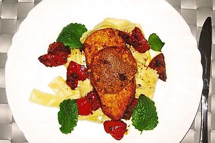 Überbackenes Hühnerbrustfilet mit karamellisierten Tomaten 4