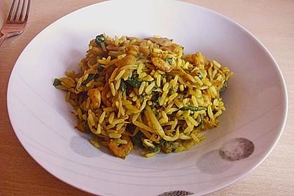Asiapfanne mit Reis und Garnelen 6