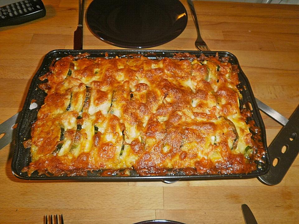 Rezept zucchini auflauf mit faschiertem
