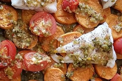 Rotbarsch mit Süßkartoffeln 7