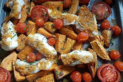 Rotbarsch mit Süßkartoffeln 10