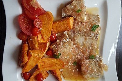 Rotbarsch mit Süßkartoffeln 16