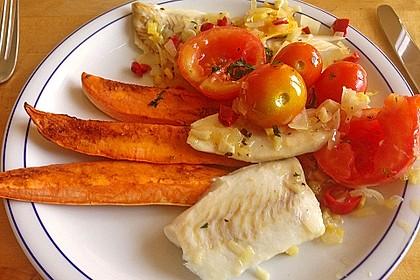 Rotbarsch mit Süßkartoffeln 13