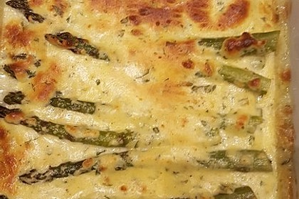 Albertos grüner Spargel mit Parmesancreme 3