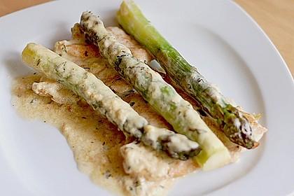 Albertos grüner Spargel mit Parmesancreme 62