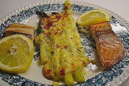 Albertos grüner Spargel mit Parmesancreme 45