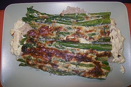 Albertos grüner Spargel mit Parmesancreme 75
