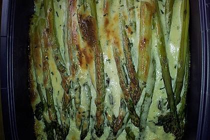 Albertos grüner Spargel mit Parmesancreme 74