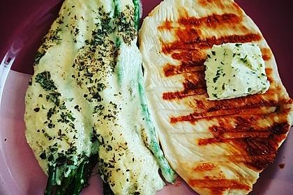 Albertos grüner Spargel mit Parmesancreme 13