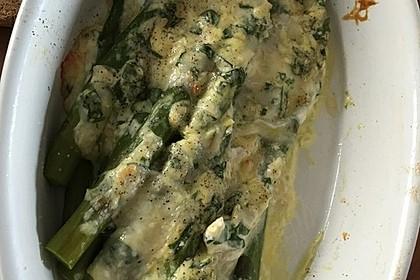 Albertos grüner Spargel mit Parmesancreme 30