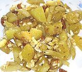 Kartoffel mit Fleckerl und Wurstresten