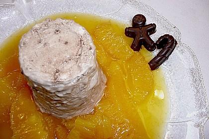 Lebkuchenparfait mit Gewürzorangen 25