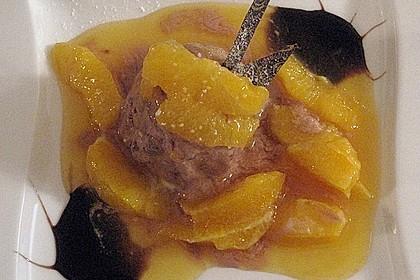 Lebkuchenparfait mit Gewürzorangen 42