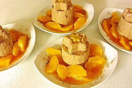 Lebkuchenparfait mit Gewürzorangen 4