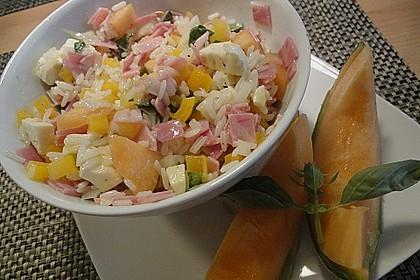 Italienischer Reis - Melonen - Salat 7