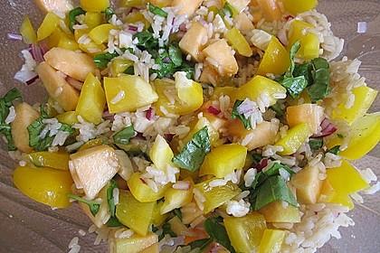Italienischer Reis - Melonen - Salat 5